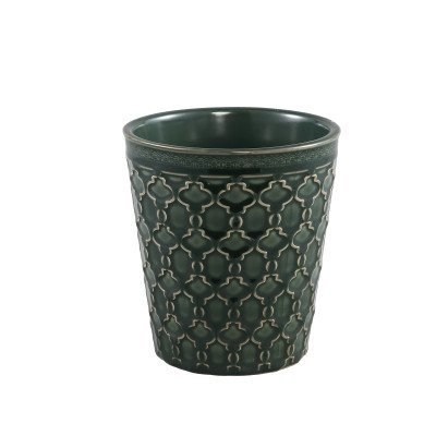 Ptmd noella groen geglazuurde keramieke print pot