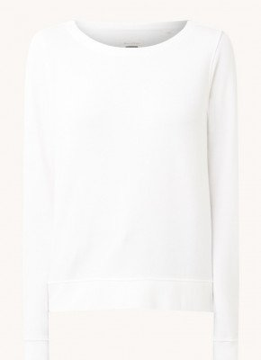 Marc O'Polo Marc O'Polo Sweater van biologisch katoen met backprint