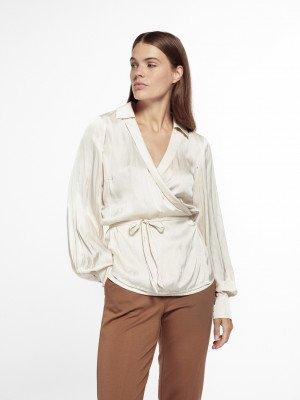 Beaumont Beaumont Draped satin blouse