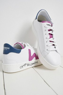 Womsh Snik White Fuxia Trainers