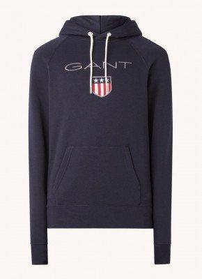Gant Gant Shield hoodie met logoborduring