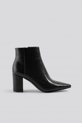 NA-KD Shoes NA-KD Shoes Pointy Toe Ankle Boots - Black