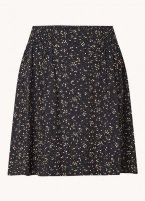 Ganni Ganni Mini rok met smockwerk en bloemenprint