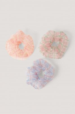 NA-KD Accessories Scrunchies 3-Pack - Multicolor