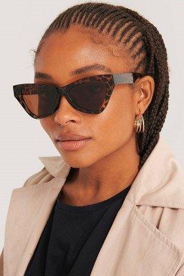 NA-KD Accessories NA-KD Accessories Sharp Triangular Cateye Sunglasses - Brown