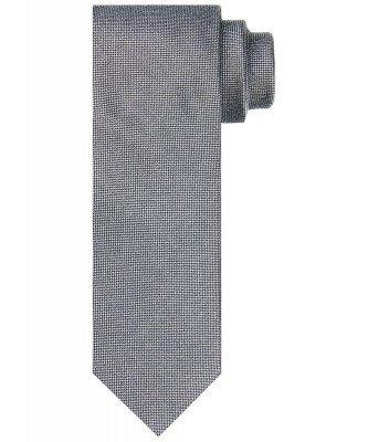 Profuomo Profuomo heren grijze zijden stropdas