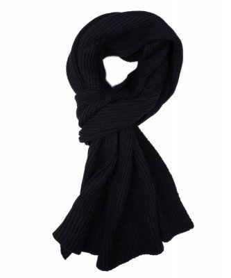 Profuomo Profuomo heren navy knitted sjaal
