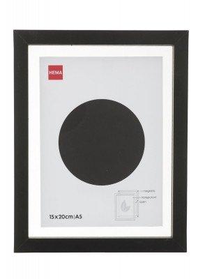 HEMA Fotolijst - Hout - Zwart - Magnetisch 15 X 20