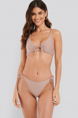 NA-KD Swimwear Structured Triangle Bikini Panty - Pink
