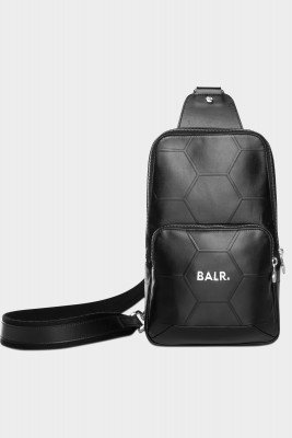 BALR. Hexagon AOP Embossed Leather Cross Body Bag