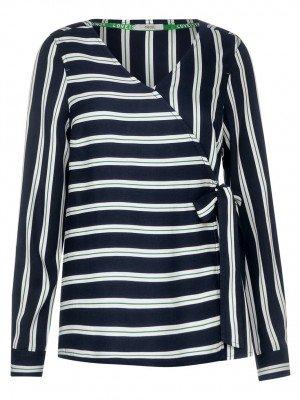 Cecil Cecil Blouse Fake Wrap Stripe Blouse 341857