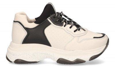 Bronx Bronx Baisley Off-White/Zwart Damessneakers