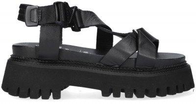 Bronx Zwarte Bronx Sandalen Groovy-sandal 84875