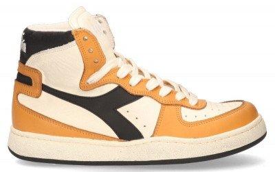Diadora Heritage Diadora Heritage Mi Basket Used Ecru/Oranje/Zwart Herensneakers