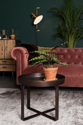 Dutchbone Dutchbone Vloerkleed 'Caruso' 200 x 300cm, kleur Distressed Brown