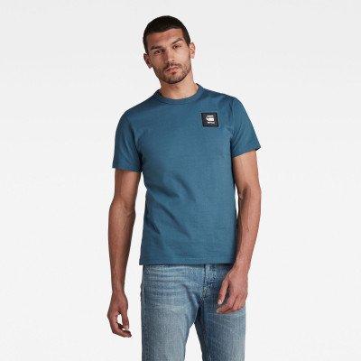 G-Star RAW Badge Logo T-Shirt - Midden blauw - Heren