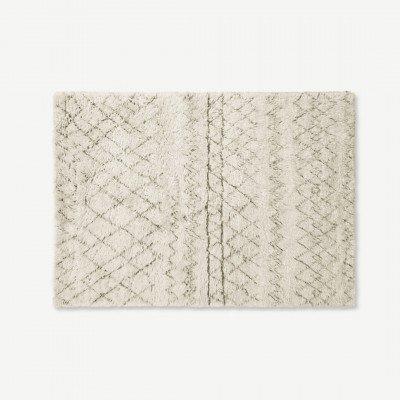 MADE.COM Ayla vloerkleed, 160 x 230 cm, gebroken wit