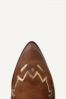 Shoecolate Shoecolate Cowboylaarzen Hak Cognac 8.20.08.095