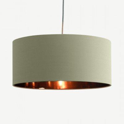 MADE.COM Oro hanglampenkap, woestijngroen en koper
