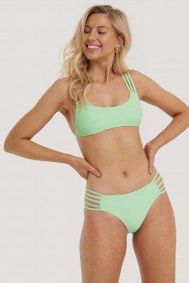 NA-KD Swimwear NA-KD Swimwear Vacay Bikinibroekje Met Bandjes - Green