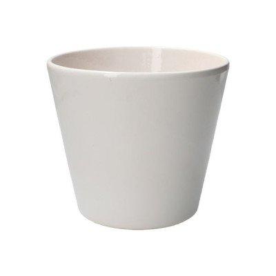 DilleenKamille Bloempot, aardewerk, wit,Ø 17,5 cm