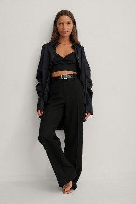 NA-KD Trend NA-KD Trend Gerecycleerd oversized shirt met zakken - Black