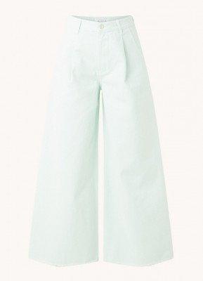Aligne Aligne Connie high waist wide fit cropped jeans met gerafelde zoom