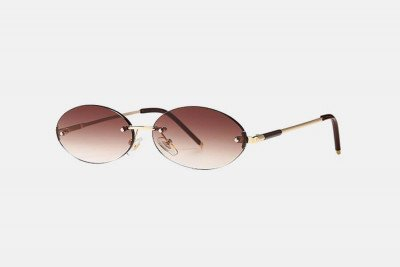 Blank-Sunglasses NL SNATCH. - Gold with brown