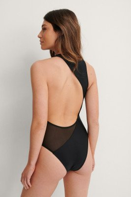 NA-KD Swimwear NA-KD Swimwear Gerecycleerd Badpak - Black