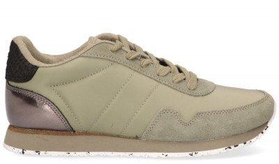 Woden Woden Nora III Groen Damessneakers