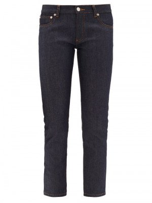 Matchesfashion A.P.C. - Etroit Mid-rise Cropped Skinny-leg Jeans - Womens - Indigo