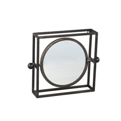 Firawonen.nl PTMD bodine zwart spiegel vierkant metalen frame s