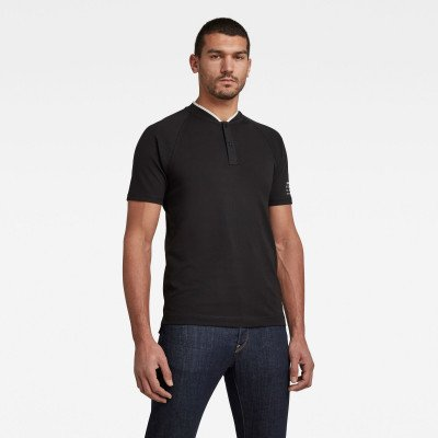 G-Star RAW Polo Baseball Collar Graphic Slim - Zwart - Heren
