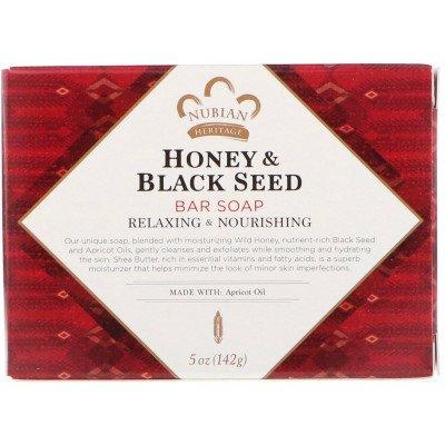 Nubian Heritage Honey & Black Seed Bar Soap - 142g Nubian Heritage