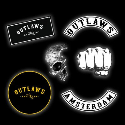 Outlaws Amsterdam NL STICKERS. - 7 PACK