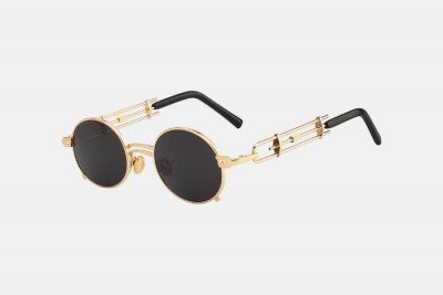 Blank-Sunglasses NL STRAP. - Gold with black
