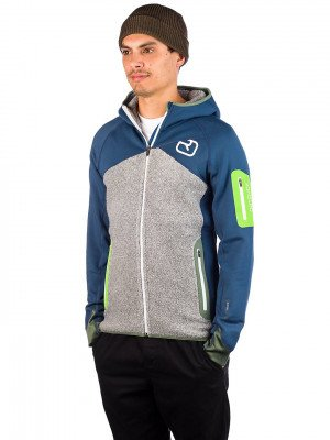 Ortovox Ortovox Fleece Plus Hooded Fleece Jacket blauw