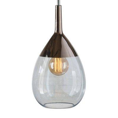 Ebb en Flow EBB & FLOW Lute hanglamp platina, glas blauw
