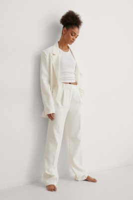 Curated Styles Curated Styles Pantalon Met Losse Pasvorm - White