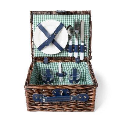 Picknickmand - blauw - 11-delig