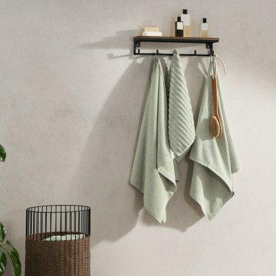 MADE.COM Alto set van 4 handdoeken, lichtgroen