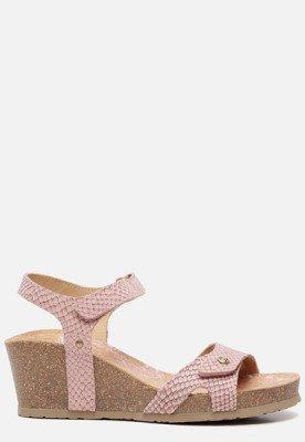 Panama Jack Panama Jack Julia Snake B801 sandalen met sleehak roze
