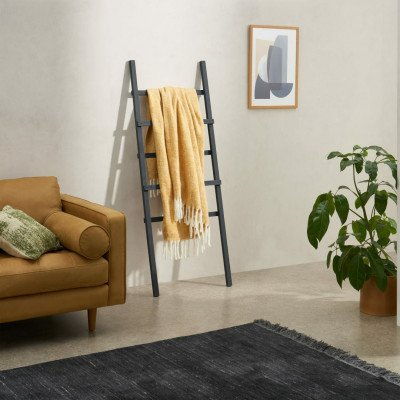 MADE.COM Bagley zachte sprei, 130 x 170 cm, bruin