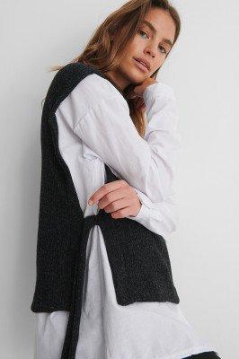 Trendyol Trendyol Knit Open Sweater - Grey