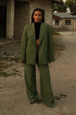 Oumayma x NA-KD Oumayma x NA-KD Oversized Blazer - Green