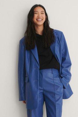 NA-KD Trend NA-KD Trend Maxi Oversized Pu-Blazer - Blue