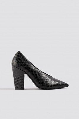 NA-KD Shoes High Vamp Pointy Pumps - Black