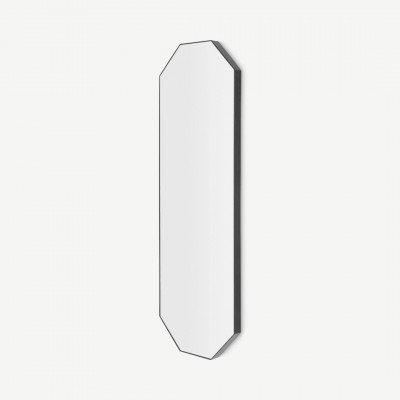 MADE.COM Arles 8-hoekige passpiegel, 40x120 cm, matzwart