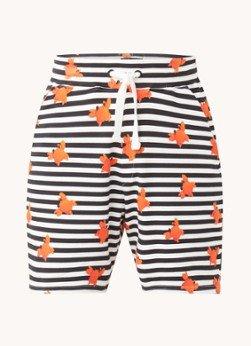 Snurk Snurk Clay Crab pyjamashorts met print en steekzakken
