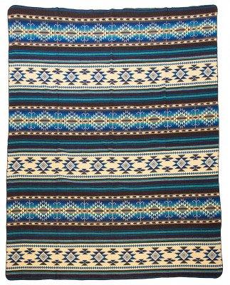 EcuaFina Alpaca deken Cotopaxi - Blauw - 195 cm x 235 cm Blue
